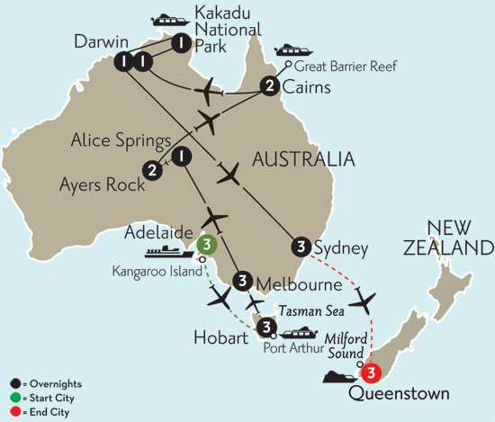 Wonders of Australia with Adelaide, Hobart & Queenstown