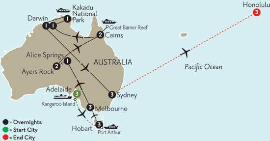 Wonders of Australia with Adelaide, Hobart & Hawaii