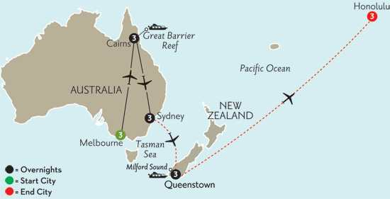 Australian Escape with Queenstown & Hawaii