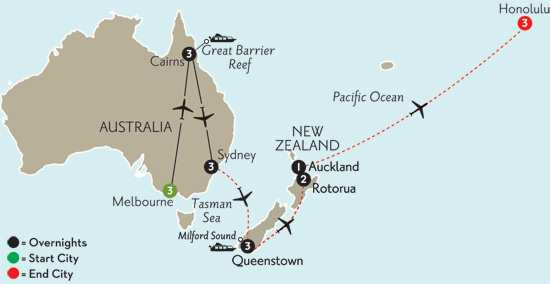 Australian Escape with Queenstown, Rotorua & Hawaii