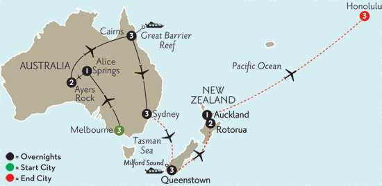 Best of Australia with Queenstown, Rotorua & Hawaii