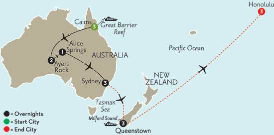 Journey Down Under with Queenstown & Hawaii