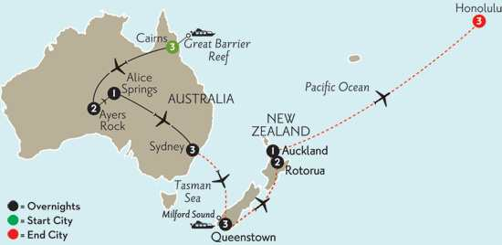 Journey Down Under with Queenstown, Rotorua & Hawaii