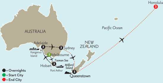 Southern Australia Explorer with Queenstown & Hawaii