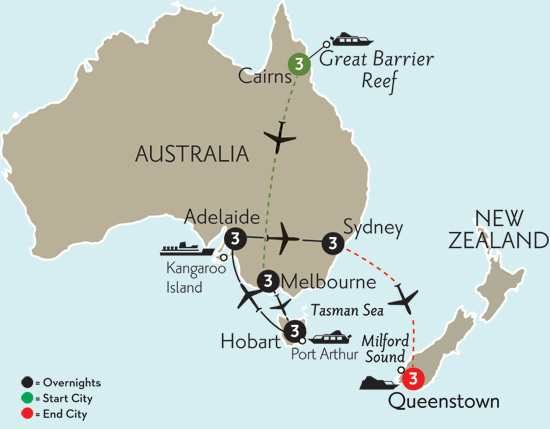 Southern Australia Explorer with Cairns & Queenstown