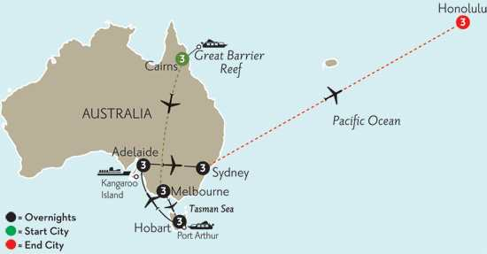 Southern Australia Explorer with Cairns & Hawaii