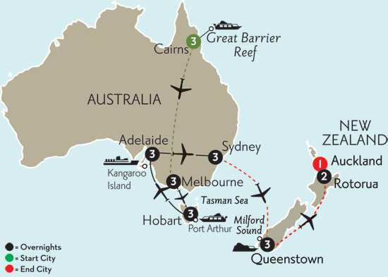 Southern Australia Explorer with Cairns, Queenstown & Rotorua