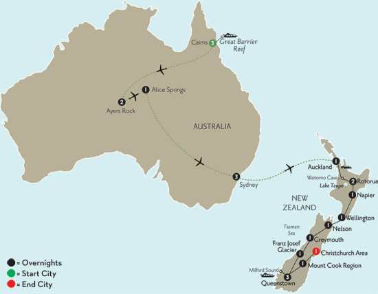 New Zealand Explorer with Cairns, the Outback & Sydney