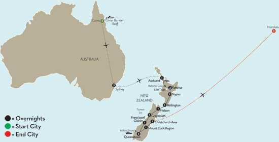 New Zealand Explorer with Cairns, Sydney & Hawaii