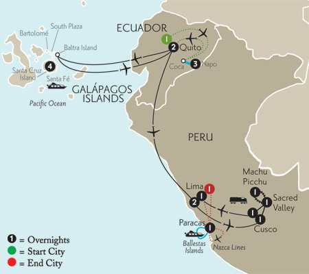 Galápagos Highlights & Peru with Ecuador's Amazon & Nazca Lines