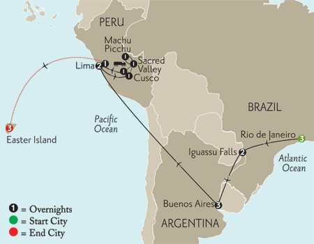 Grand Tour of South America with Easter Island