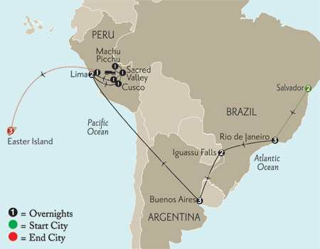 Grand Tour of South America with Salvador & Easter Island