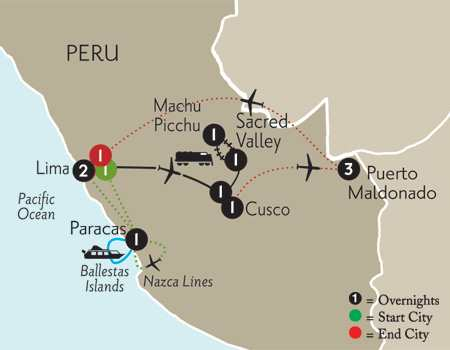 with Nazca Lines &  Peru's Amazon