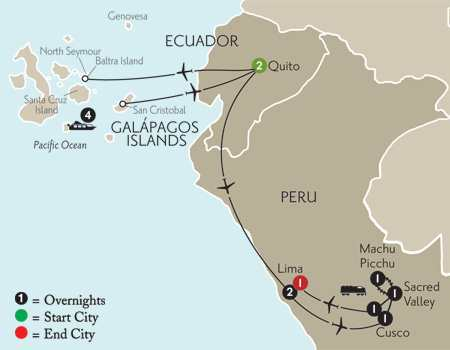 Cruising the Galápagos on board the Galápagos Explorer II with Peru