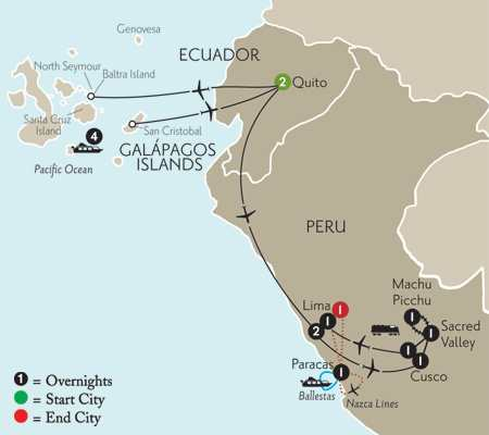 Cruising the Galápagos on board the Galápagos Explorer II with Peru & Nazca Lines