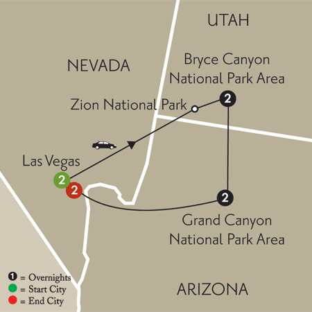 Canyon Escape with Extended Stay in Las Vegas