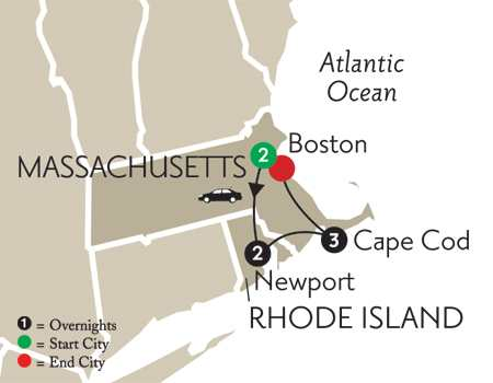 Cape Cod, Boston & Newport