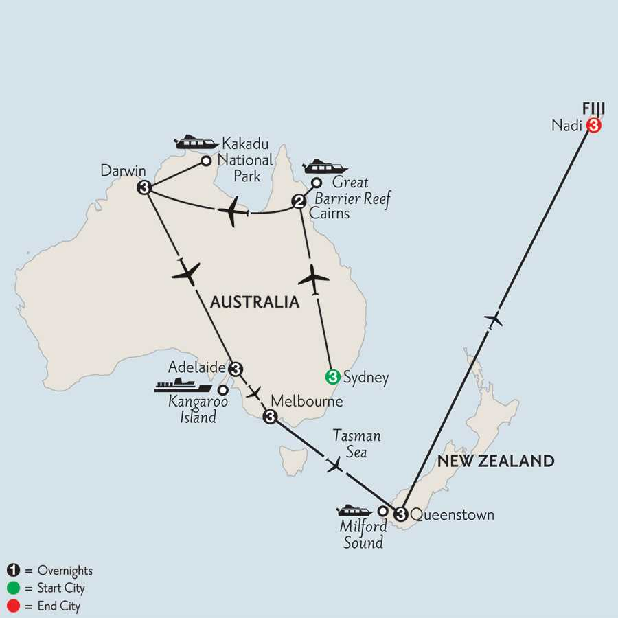 Australian Odyssey with Queenstown & Fiji