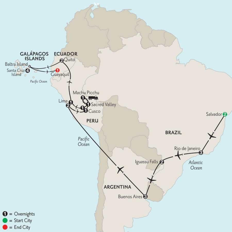 Grand Tour of South America with Salvador & the Finch Bay in the Galápagos