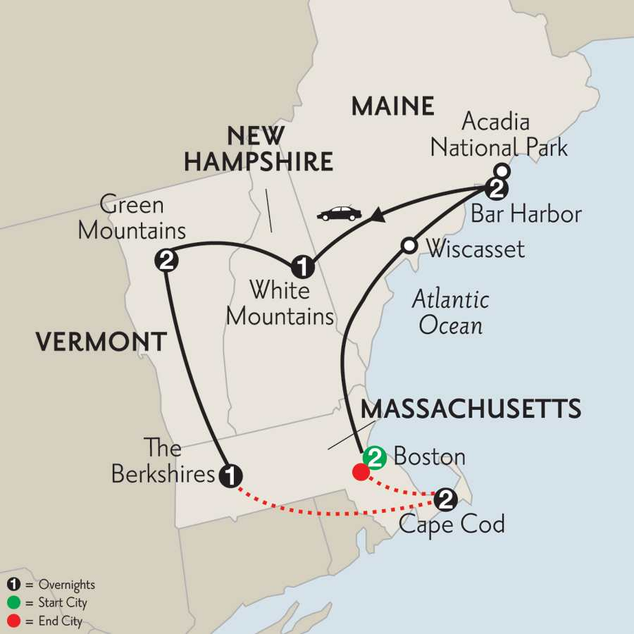 New England with Cape Cod