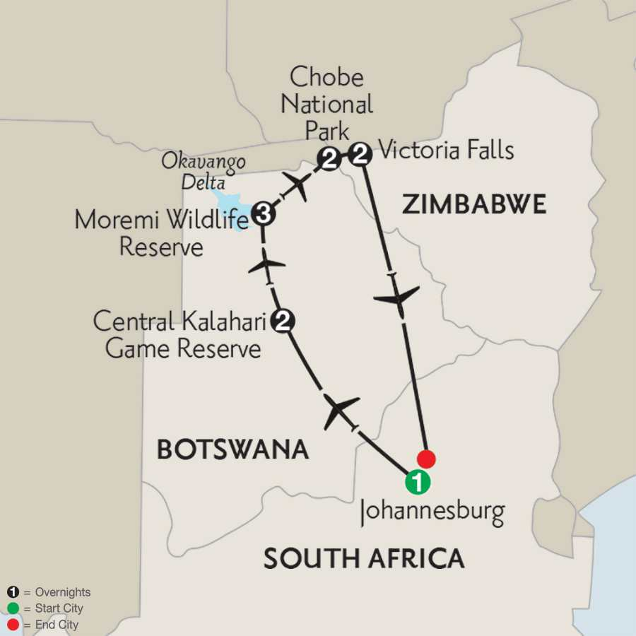Wilds of Botswana & Victoria Falls